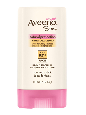 Drugstore Find: Aveeno Baby Natural Protection Mineral Block Face Stick, SPF 50