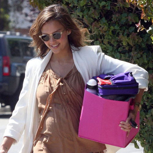 Pregnant Jessica Alba Pictures in LA With Daughter Honor Warren