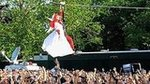 Video: Lady Gaga Zip-Lines Through Central Park and Shares Sweet Beyoncé Story!