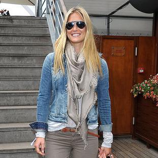 Bar Refaeli Attending the 2011 French Open in Paris Pictures