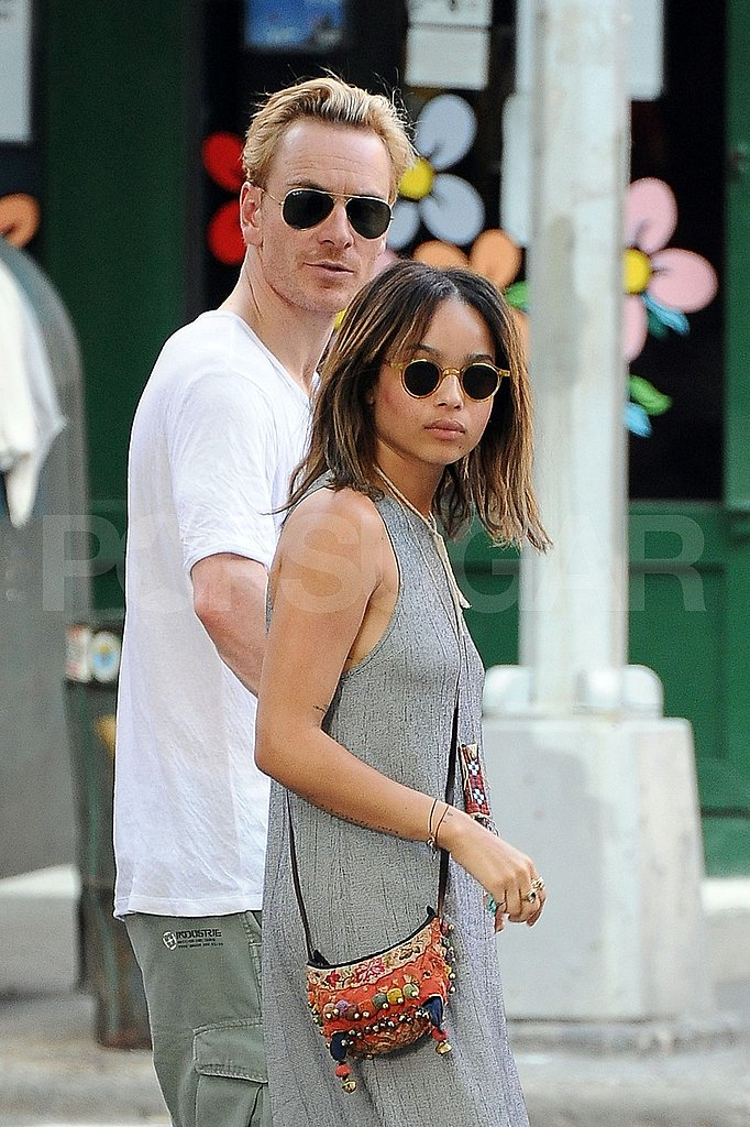 Michael Fassbender and Zoe Kravitz Have a Romantic Brunch in NYC!