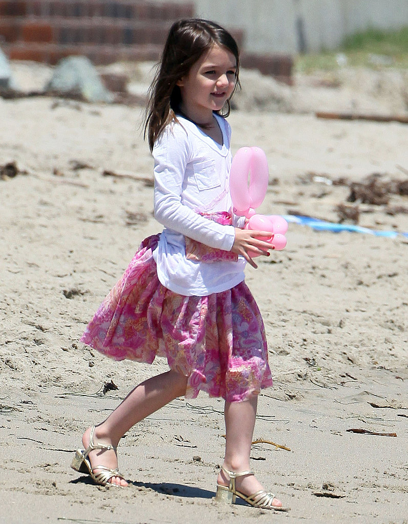 Katie Holmes and Suri Cruise Celebrate Memorial Day on the Sand, and in Heels!