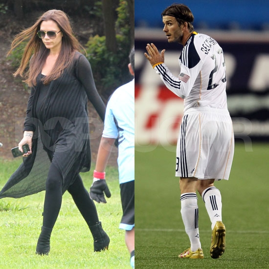 Victoria Beckham Reveals Her Growing Baby Bump at Her Son's Soccer Game
