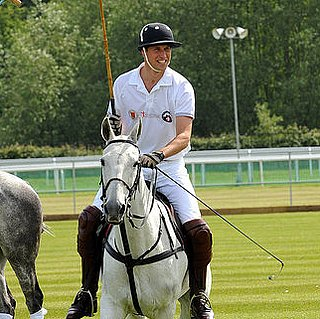 Prince William Playing Polo at the Audi Polo Tournament Pictures