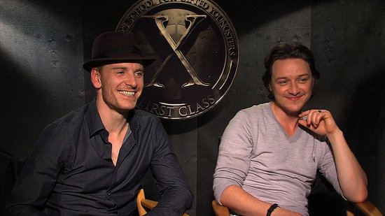 Video: Michael Fassbender's Ginger Pride and James McAvoy's Heartthrob Drawback