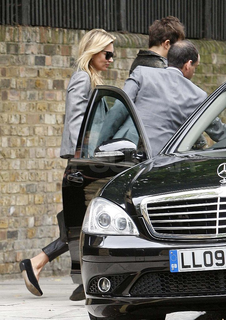 Kate Moss and Jamie Hince Step Out in Leather Just One Month Ahead of Their Wedding