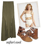 Swimsuit Styling: Safari Cool