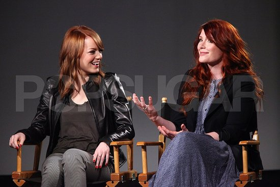 Emma Stone Brings Back Her Red Hair and Bryce Dallas Howard Shows Her Bump
