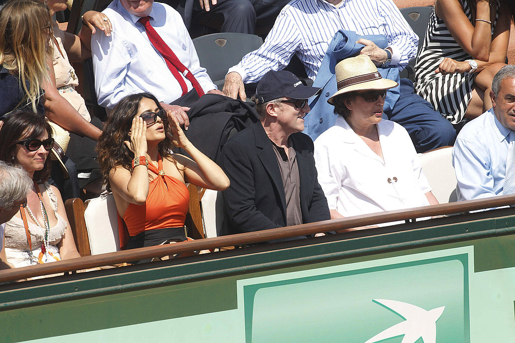 Salma Hayek and Her Husband Join Bradley Cooper For the French Open