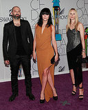 Michael and Nicole Colovos of Helmut Lang, with Leigh Lezark in a dress of their design