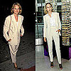 Leelee Sobieski&#039;s Cream Menswear Suit by Adam Kimmel 2011-06-07 09:11:46