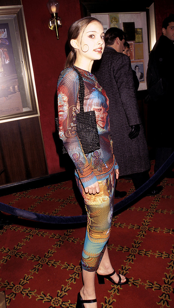 Natalie Portman in a Printed Sheath at the 1997 Everyone Says I Love You New York Premiere