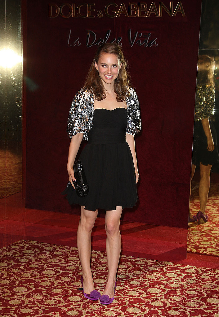 Natalie Portman in an Embellished Shrug at the 2008 Cannes Film Festival
