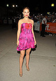 Natalie Portman in a Floral Minidress at the 2009 Love and Other Impossible Pursuits Toronto Premiere