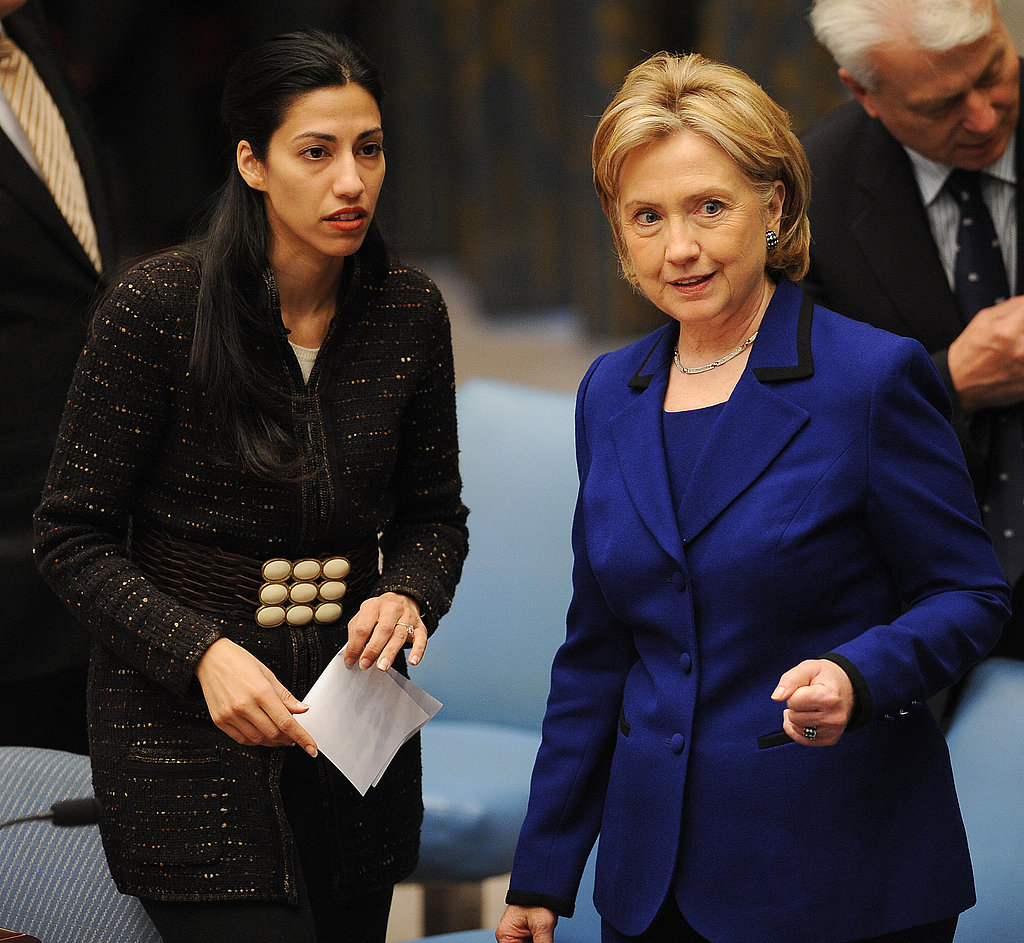 Here at the UN in 2009, Huma spoke with Hillary Clinton during a council session on women and sexual violence.