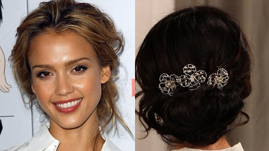 Get the look of Jessica Alba 39s romantic loose updo