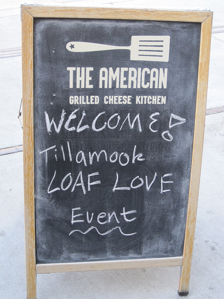A sign announces the event.