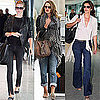 Cindy Crawford, Lara Stone and Rosie Huntington-Whiteley Fly in Jeans and Sunglasses