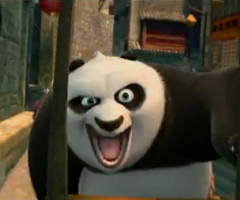 Video of Jack Black Doing Voice Work as Po the Panda in Kung Fu Panda 2