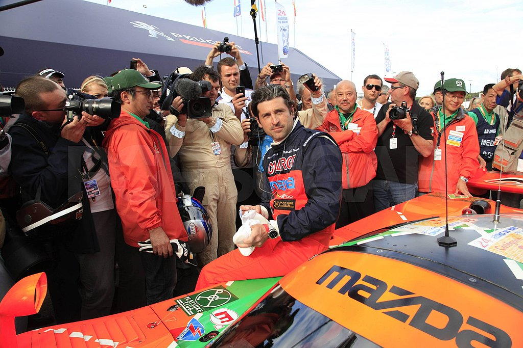 Patrick Dempsey Takes a Spin Around the Track Before Heading to the Moon