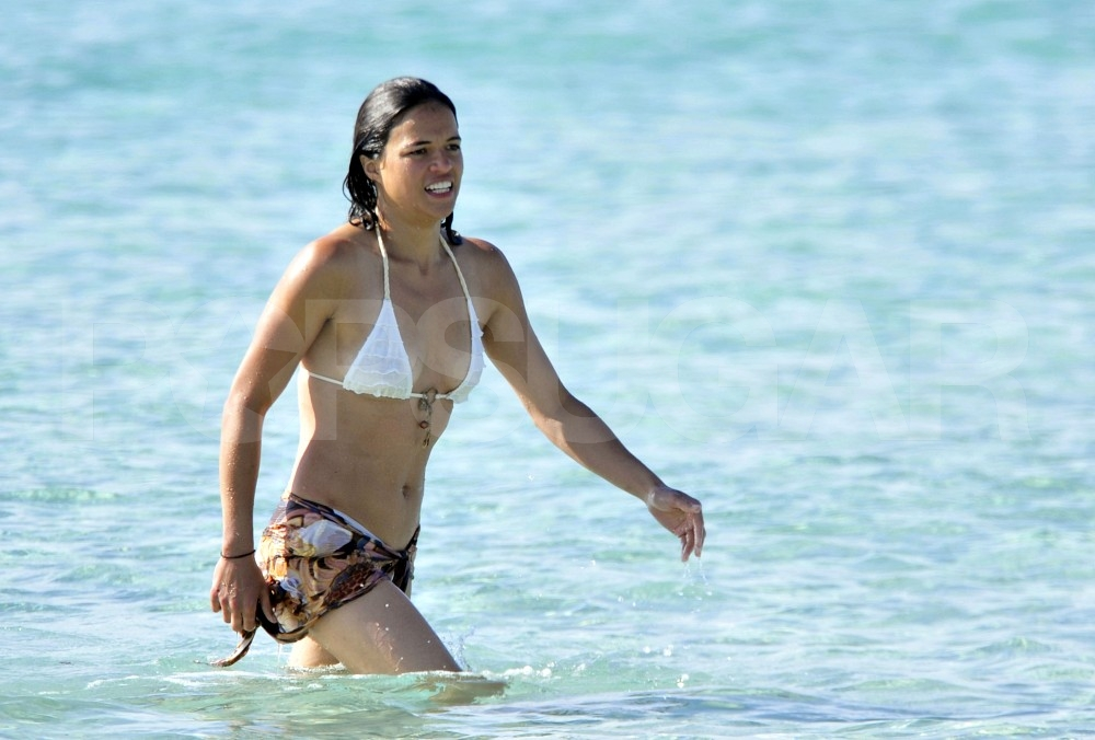 Michelle Rodriguez Breaks Out Her Bikini Under the Spanish Sun