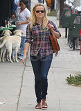 Reese Witherspoon Kicks Off Her Weekend With a Plaid Moment