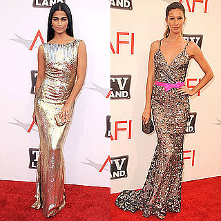 Gisele Bundchen and Camila Alves Wearing Sequined Gowns at the AFI Awards