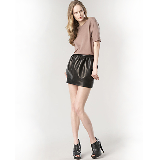The Row Matthis Leather Skirt, $1,290
