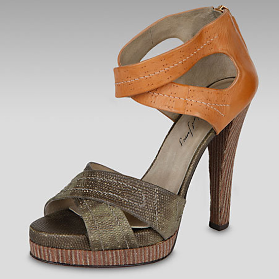 Elizabeth and James Lizard-Embossed Sandals, $350