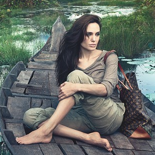 Angelina Jolie's Louis Vuitton Ad Pictures