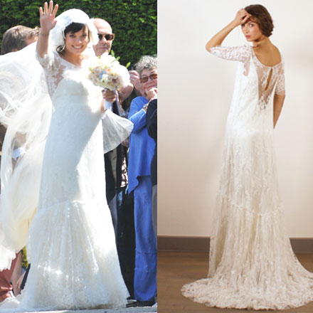 Lily Allen Wears Delphine Manivet To Her Wedding