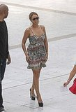 Beyoncé Knowles Slips Into a Sexy Dress to Catch a Flight Out of France