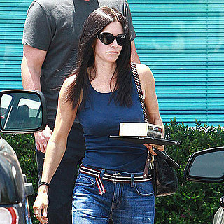 Pictures of Courteney Cox at Salon in LA