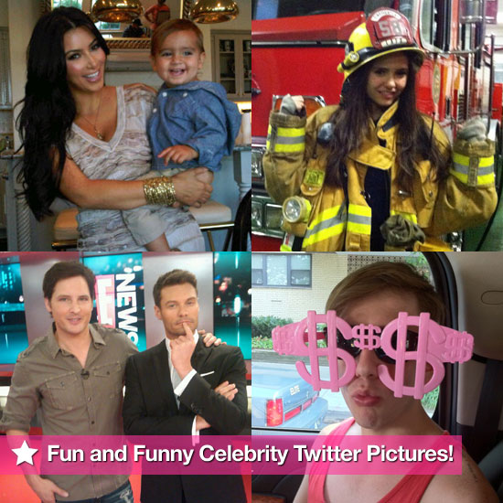 Nina Dobrev, Kim Kardashian, Rachel Zoe, and More in This Week's Fun and Funny Celebrity Twitter Pictures!