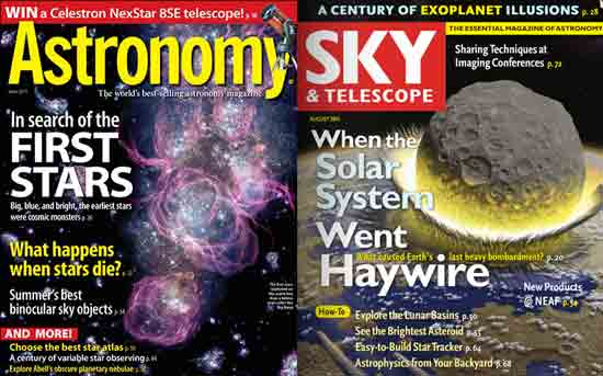 Astronomy or Sky & Telescope Magazine Subscriptions ($42 or $37)
