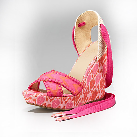 Theodora & Callum Patterned Linen Lace-up, $395