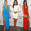 Celebrities at amfAR Inspiration Gala New York including Chanel Iman, Heidi Klum, Jennifer Hudson and Alek Wek