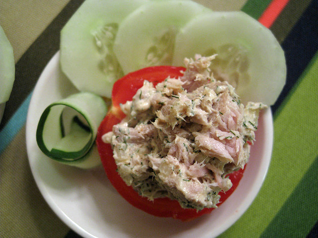 Tuna Salad on Tomato
