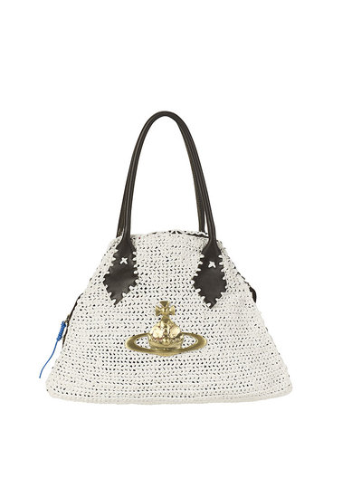 White Crochet Bowling Bag, $339