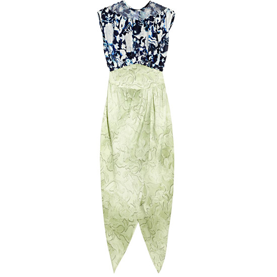 Rodarte Ming Print Silk Organza & Crepe Dress, $6,270