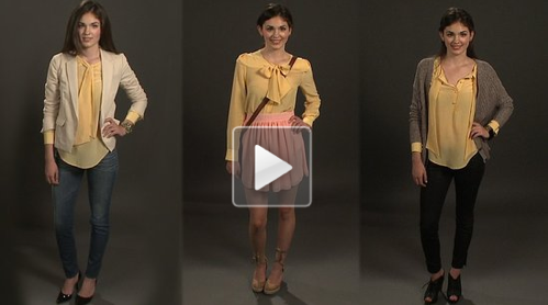 Check out FabTV's latest how-to: one blouse, three ways.