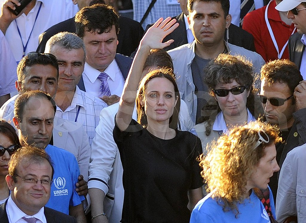 "Angelina Jolie Welcomed as ""Goodness Angel of the World"" by Refugees in Turkey"