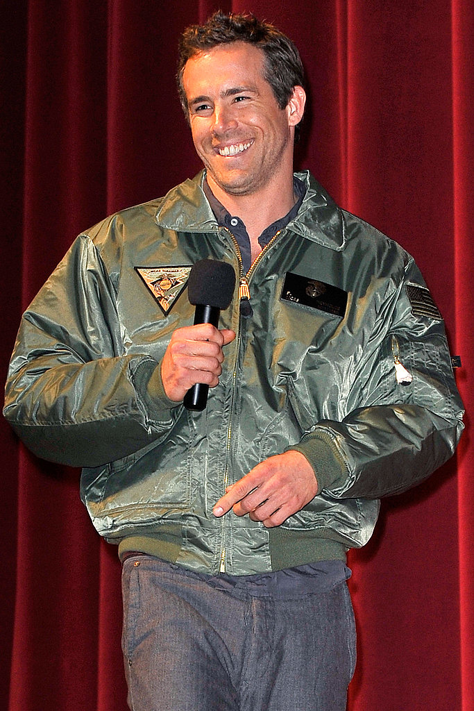 Ryan Reynolds Holds a Special Green Lantern Premiere For Troops in San Diego