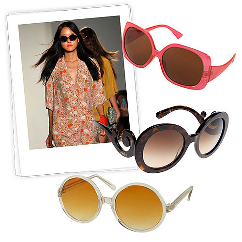 Bright Summer Sunglasses: Prada, Karen Walker, Topshop, and More