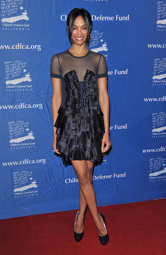 At the annual Beat the Odds Awards in 2010, Zoe wore an artfully pleated dress.