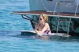 Avril Lavigne out in the water.
