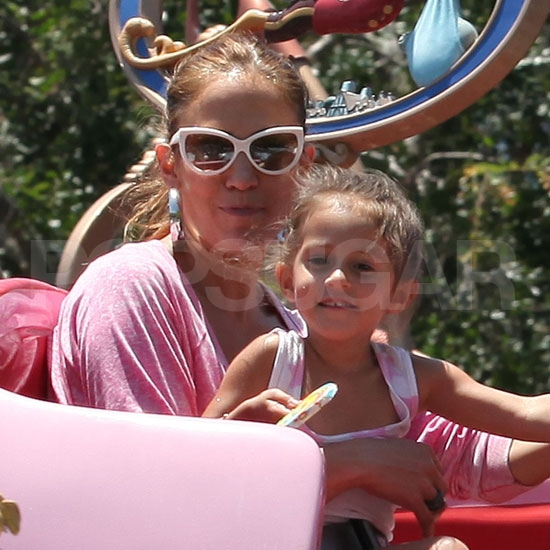 Jennifer Lopez with daughter Emme Anthony at Disney.