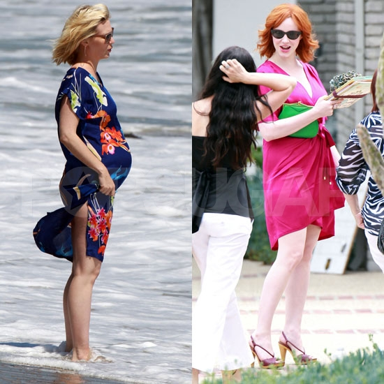 January Jones Hits the Beach Following Her Malibu Baby Shower