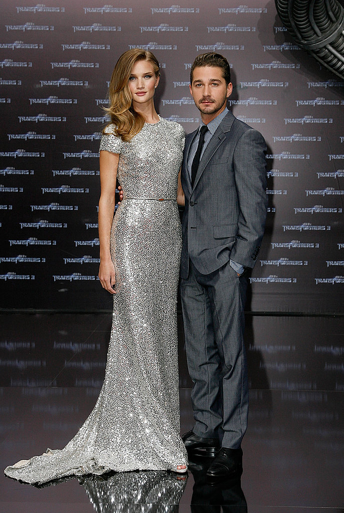 Rosie Huntington-Whiteley and Shia LaBeouf pose in Berlin.