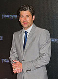 Patrick Dempsey at a Transformers: Dark of the Moon in Paris photo op.